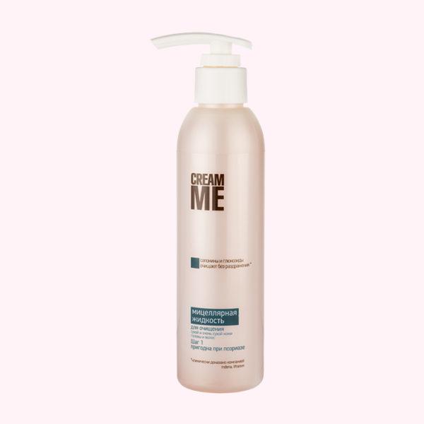 Мицеллярная жидкость для сухой кожи головы, при псориазе, от раздражения, от зуда кожи головы